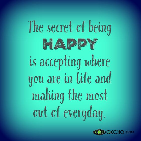 The Secret Of Being Happy! #Inspiration