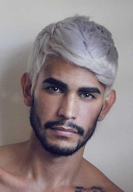 mens 2014 distressed hair images get 2014 latest trendy 19 hair color ideas for men mode homme sous vtements pinterest cheveux blancs - Coloration Cheveux Blancs Homme