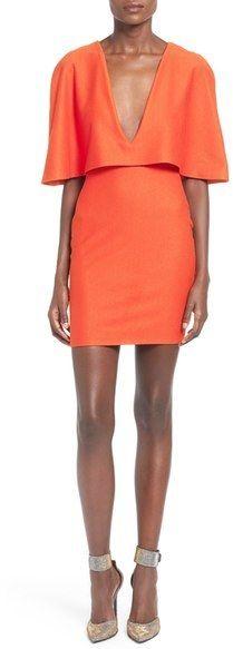 MISSGUIDED Cape Body-Con Dress