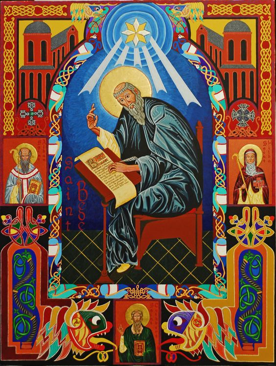 Αποτέλεσμα εικόνας για Saint Bede the Confessor, Hieromonk of Wearmouth-Jarrow (+735)