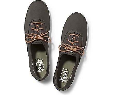 champion waxed lace keds tan