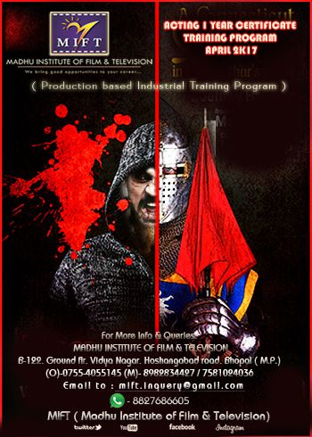 REGISTRATION OPEN # ACTING 1 YEAR CERTIFICATE TRAINING PROGRAM - certificate for training