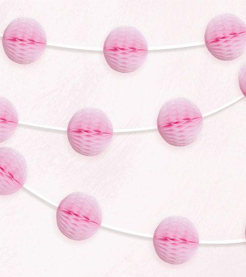 pink 2,13m Wabenball-Raumgirlande