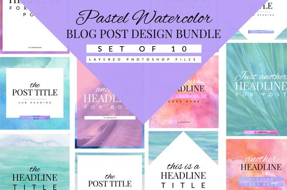 Pastel Blog Template Bundle by Coral Antler Creative on @creativemarket