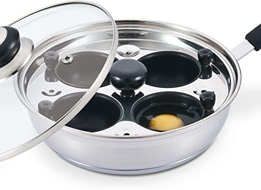 stainless steel egg poacher pan pfoa