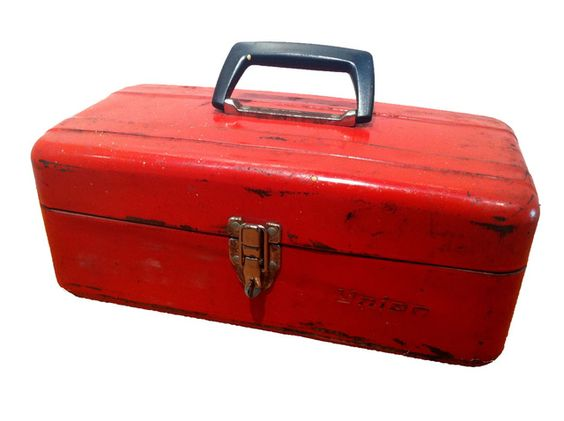 Vintage Tool Box in Red Offered by Marzipan Mummy | Galactic Dust ...