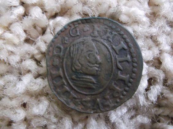 1664 Philip IV 16 Maravedis KM 172.6 by CheatumsBargains on Etsy, $50.00