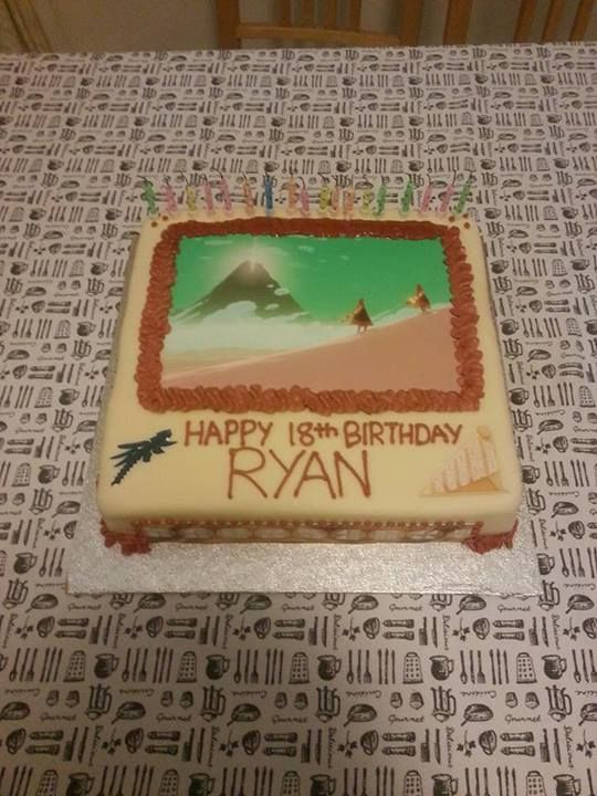 Here's an awesome Journey-themed birthday cake made for Ryan. Happy birthday to all Ryans!  :D via https://www.facebook.com/photo.php?fbid=654846174550092&set=o.204151189627827