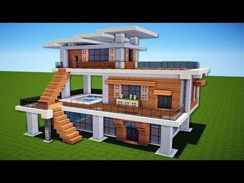 Einfaches Modernes Haus Design Minecraft Haus Minecraft Haus Bauplan Minecraft Haus Bauen
