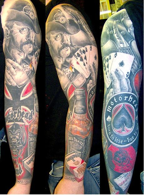 Motorhead tattoo sleeve...amazing!