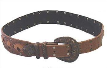 Brown Alligator Print Belt