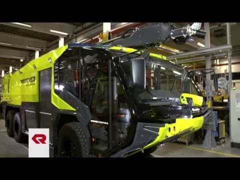 FLF Panther Rosenbauer Airport Bremen Fire Brigade Truck - YouTube