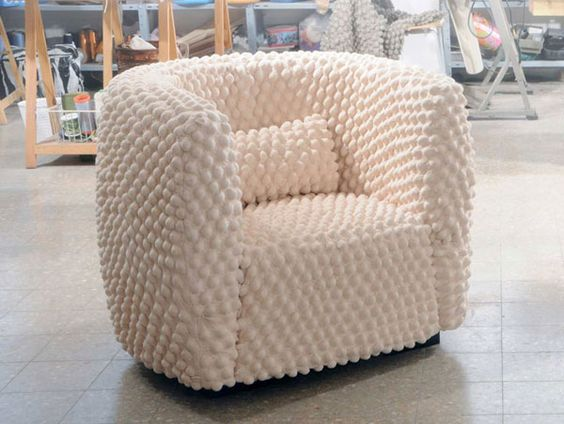 Redifining the Connection Between Upholstery and Fabric: Olive Chair