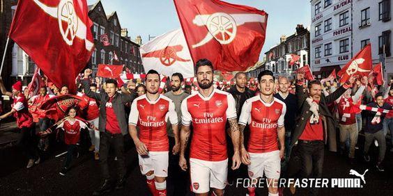 nouveau Maillot de foot Arsenal Domicile 2016/2017: