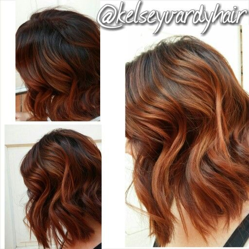 Rojo , Red copper hair. Balayage ombre