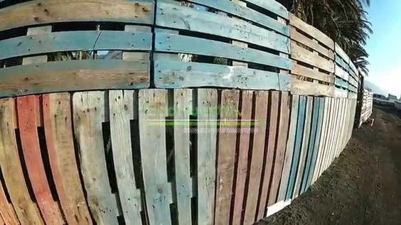 Como hacer una valla con palets si quieres hacer una valla - Como hacer una barra con palets ...