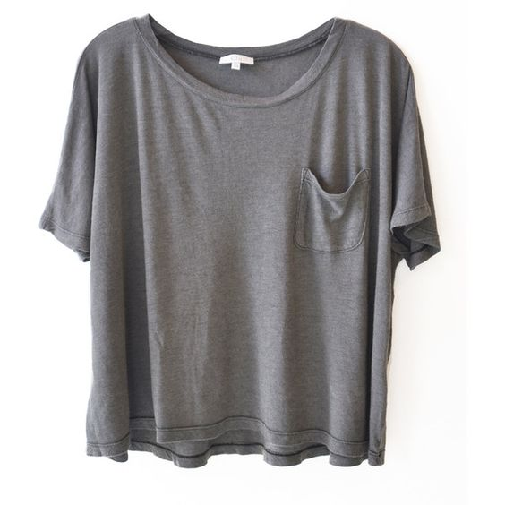 Clu Loose Fit Short Sleeve Tee via Polyvore