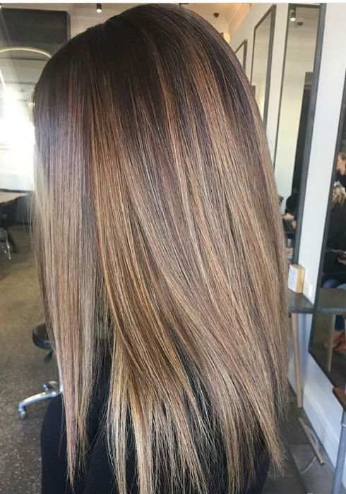 Brown Hair With Highlights In 2020 Balayage Straight Hair Long Hair Styles Straight Hairstyles