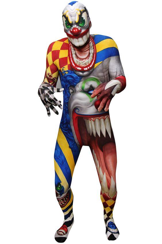 #morphsuit #Ganzkörperkostüm #HorrorClown #Halloween  http://www.horrormasken24.de/morphsuit/