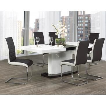 What's black, white and gorgeous all over? Oh right, this dining room set!