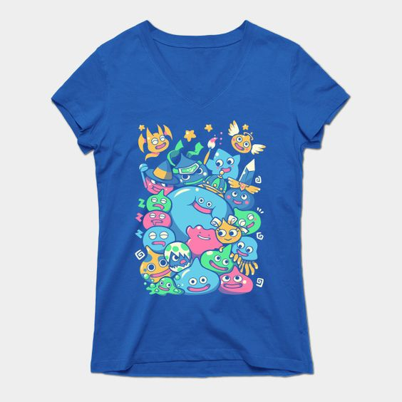 Slime Party! Womens V-Neck T-Shirt