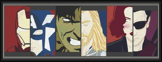 avengers cross stitch