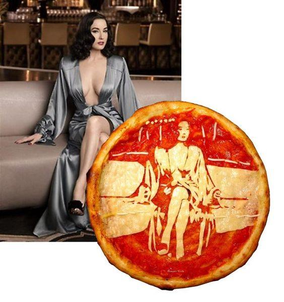 Pizza Art, Dita Von Teese