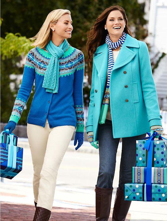 Talbots - Diamond Fair Isle Cardigan   Sweaters   Misses   livin ...