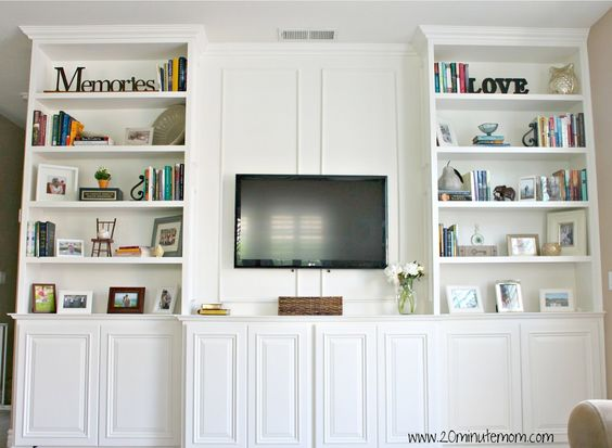 Do it yourself custom built ins living room pinterest do it yourself and built ins for Custom built ins for living room
