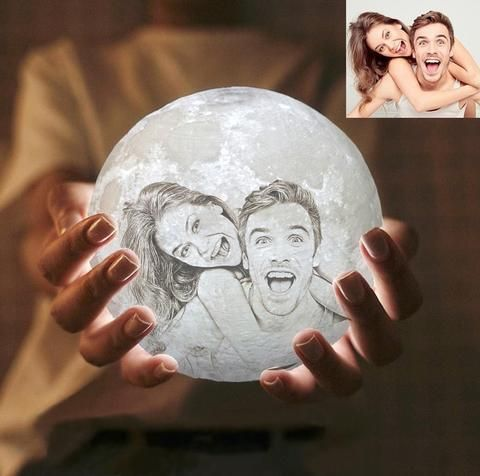 23 Special Christmas Gifts Ideas For Your Boyfriend Gifts For Family Moon Light Lamp Photo Gifts
