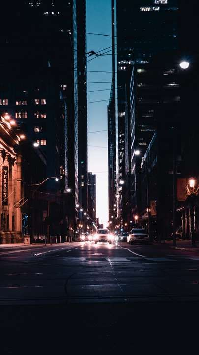 Download Iphone Xs Iphone Xs Max Iphone Xr Hd Wallpapers Night City Road Traffic Lighting City Lights Free Wallpape Night City City Wallpaper Cityscape