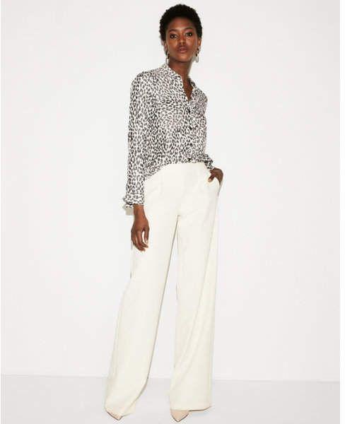 Express leopard print city shirt by