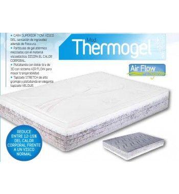 Norcolchón Thermogel Colchón de viscoelástica con partículas de gel que lo hacen más fresco.