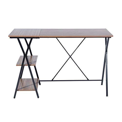 Houseinbox Com Modern Writing Desk Corner Computer Desk Study Table Workstation With 2 Computer Desks For Home Writing Desk Modern Home Office Furniture Sets