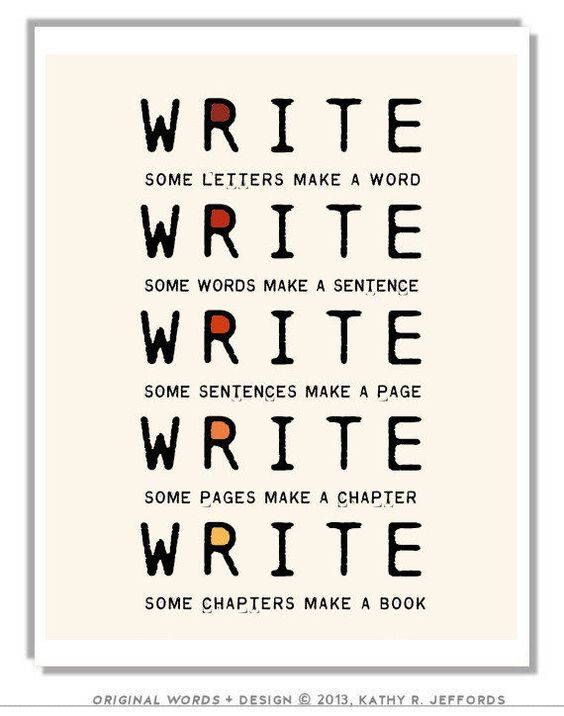 Writing a book for the first time