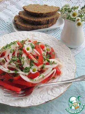 Два закусочных салата с маринованным луком