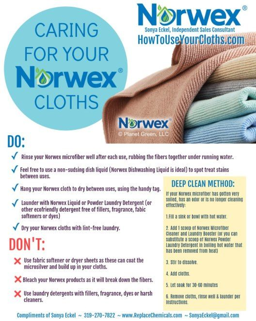 How To Wash And Deep Clean Norwex Cloths Norwex Cloths Norwex Microfiber Norwex Envirocloth