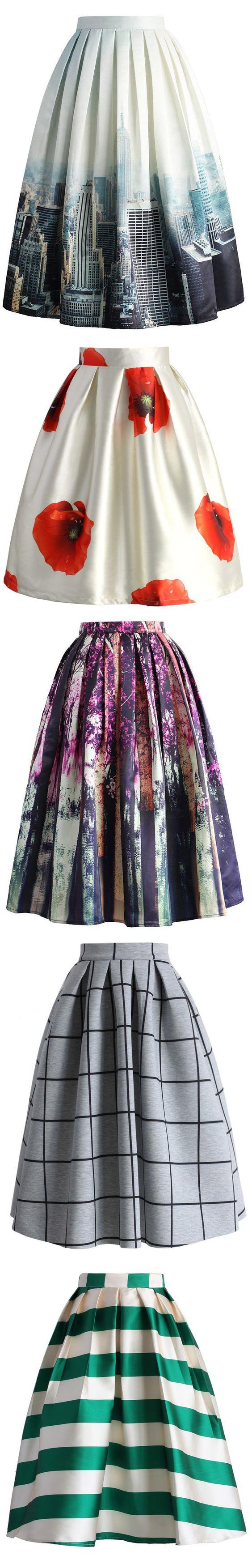 print midi skirt, christmas party skirt, thanks giving skirt, xmas skirt| I love the top one