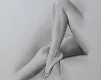 Art nu féminin, commande croquis nu, dessin de nu, croquis nu, croquis au crayon, dessin érotique, Body Art Nude, nu classique, RÉALISÉ sur COMMANDE