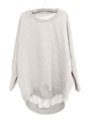 Beige Bat Sleeve Leisure Sweatshirt  S002513,  Sweater, Beige Bat Sleeve Leisure Sweatshirt, Chic