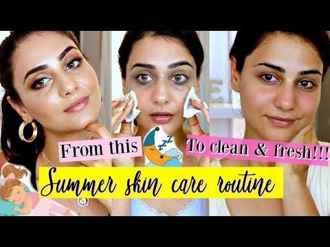 My Simple Summer Night Time Skincare Routine With Bloopers