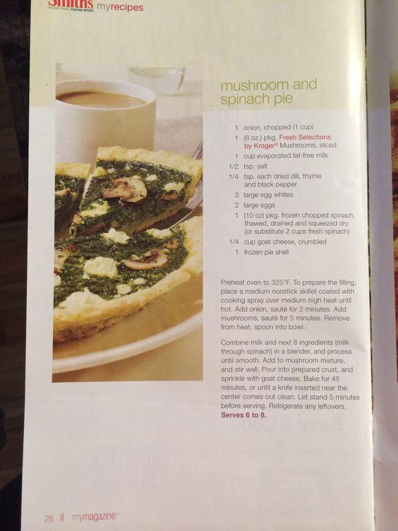Mushroom & Spinach Pie