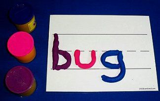 play-dough sight words