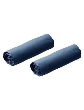 Dos sabanas bajeras azul oscuro