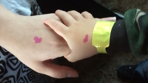 Temporary Heart tattoos for the 1st day of school!