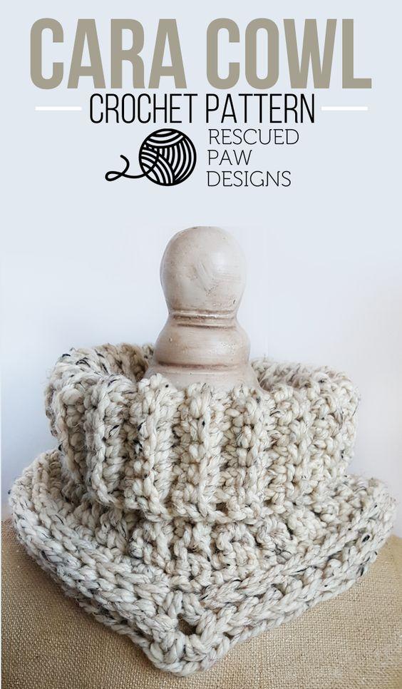 Easy Crochet Cowl Pattern - Textured Crochet Cowl   Diseño, Patrones ...