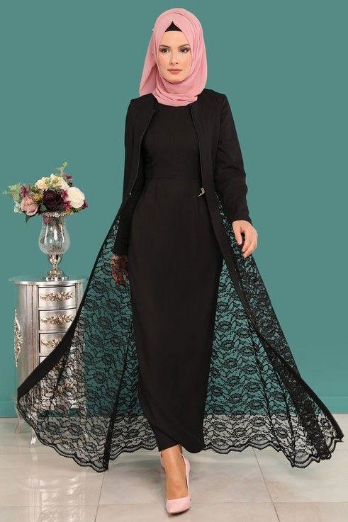Modaselvim Bugune Ozel Yelegi Dantel 2 Li Kombin Msw8642 S Siyah Siyah Dantel Elbiseler Elbise Elbiseler