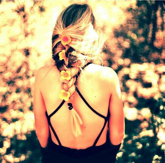 Penteado flores