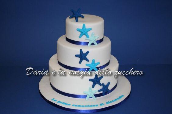 #Torta prima comunione stelle marine #Torta stelle marine #Starfish first communion cake#Starfish cake #Starfish #Stelle marine