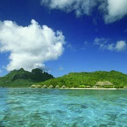 If you're looking for the ultimate island fantasy, you can't do better than French Polynesia: sugary sands, empty beaches, and water the perfect shade of aquamarine. A 45-minute flight from Tahiti, Bora Bora is a majestic island with three verdant volcanic peaks and offshore islets inside a protective necklace of coral.